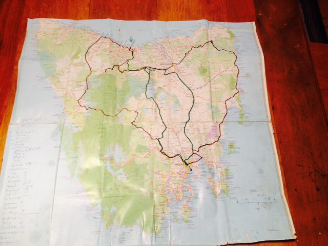 Show Us Your Map Of Tassie Cycle Touring Australia And Beyond - Show-us-your-map-of-tassie